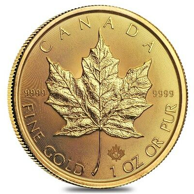 2019 1 oz Canadian Gold Maple Leaf $50 Coin .9999 Fine BU