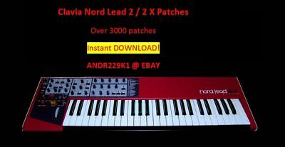 Sounds Library patches 3000 D0WNL0AD Patchbanks Clavia Nord Lead 2//2X