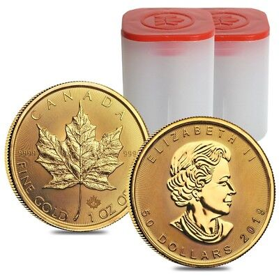 Lot of 20 - 2019 1 oz Canadian Gold Maple Leaf $50 Coin .9999 Fine BU (2