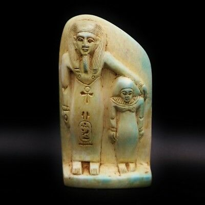 Rare Antique Ancient Egyptian Faience Statue Figure..Large..300-1500 BC