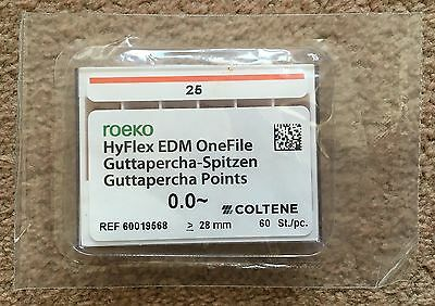 60 no Coltene Roeko 25 HyFlex EDM One File Dentist Root Canal Dental 60019568