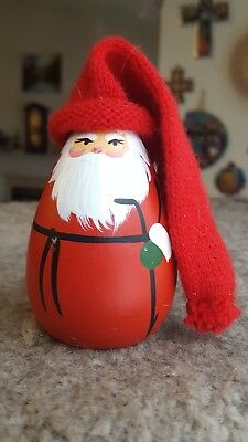 Vintage Swedish Christmas Jul Hand-Painted Wooden Santa Claus - a Persson Design