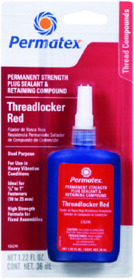 Permatex Permanent Strength ThreadLocker Red Dual Purpose 1.22 Fl. Oz