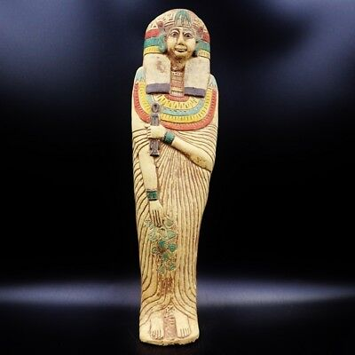 XXX-Large Antique King Ushabti (Shabti) Statue Figure of Ancient Egyptian