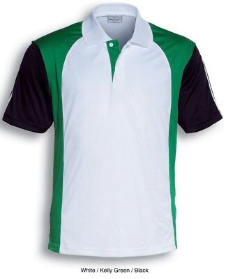 Mens Polo Shirt Cool Quick Dry Breathable Comfortable With Sun Protection *