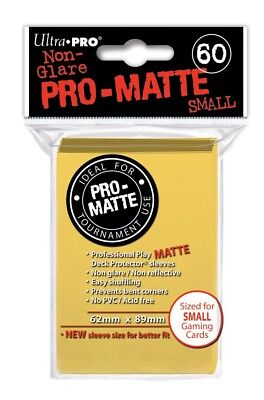Ultra Pro Pro-Matte Small Size Deck Protector Sleeves 62mm x 89mm: Yellow 60ct