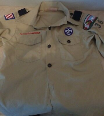 BSA Boy Scouts of America Youth Medium (10-12) Uniform Scouting shirt Colorado