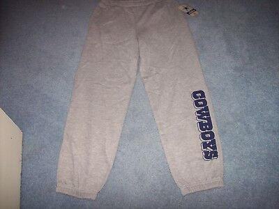 Dallas Cowboys Boy's Size 12/14 Sweat Type Pants New With Tags Gray LAST ONE