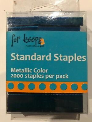 Forkeeps Standard Staples Blue Metallic Color 2000 Staples Free Shipping