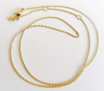 """Origami Owl 16""""-18"""" CORE Delicate .925 Cable Chain GOLD NEW"""