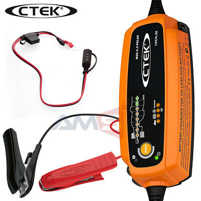 NEW CTEK 56-958 MUS 4.3 Polar Smart 12V Battery Charger & Maintainer with Bag