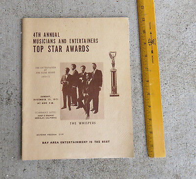 1971 African America SF East Bay Music Entertainer Awards Program The Whispers