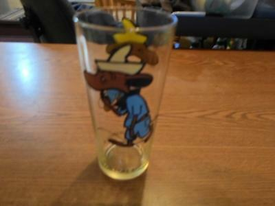 Vintage Pepsi 1973 Cartoon Glass Slow Poke
