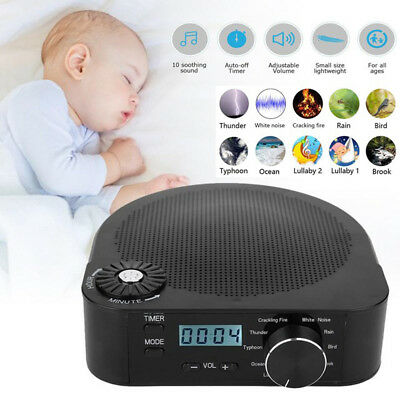 Sound Spa Relax Machine White Noise Baby Nature Peace Therapy Easy Sleep Night