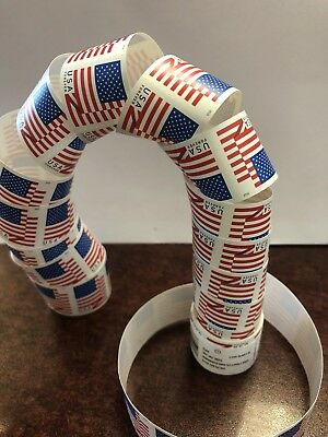 *New & Sealed* (1 Roll) 100 USPS Forever Postage Stamps US Flag Coils Rolls