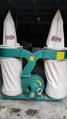 Used Grizzly G1030 3HP Dust Collector 2 Bin 220V PICK-UP ONLY NO SHIPPING