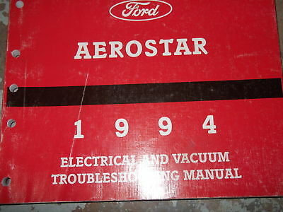 1987 ford aerostar service repair shop manual electrical wiring 1994 ford aerostar van wiring diagrams electrical service shop manual evtm 94
