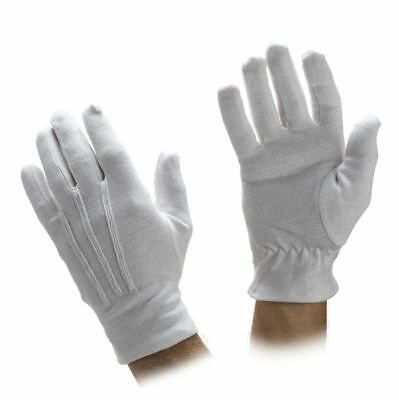White Cotton Gloves - men's & women's - Uniform, Parade, Military, Santa Gloves