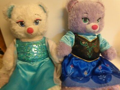 Build A Bear Workshop Disney Frozen Anna & Elsa Bears Plush
