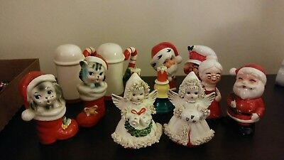 Lot of Vintage Christmas Salt And Pepper Shakers 6 Pairs Japan Commodore Enesco