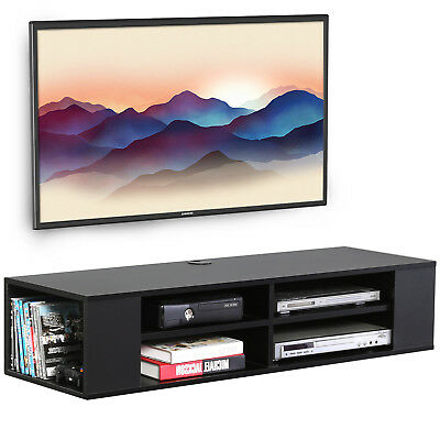 FITUEYES 2 Layer TV Stand Floating Wall Mounted AV Shelf TV Console, 120*30cm