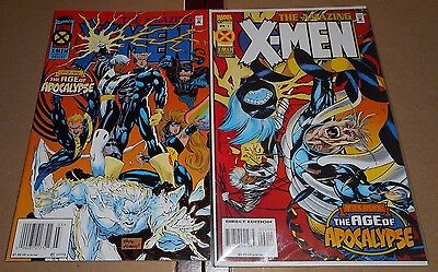 The Amazing X-MEN #1-2 (1995 Marvel) Ag of Apocalypse VF