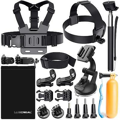 Luscreal Accessories for GoPro, Action Camera Accessories Kit for Go Pro Hero 7