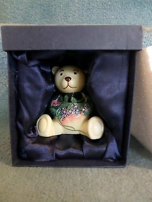 RARE Hand Painted Jeanne McDougal Pottery Bear (ADORABLE)