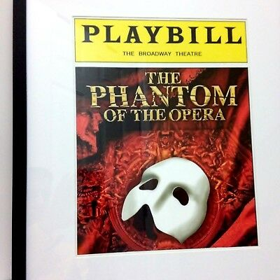 Phantom of the Opera Large 16x20 Framed Playbill Photo Poster Broadway New
