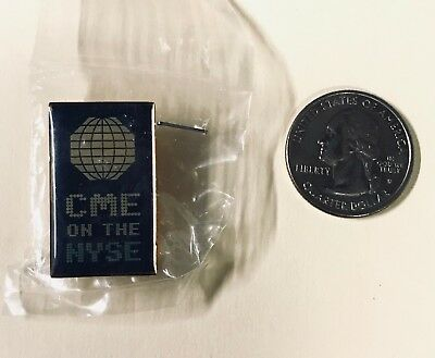 Rare CME Chicago Mercantile Exchange Button Badge Pin CME On The NYSE 2002