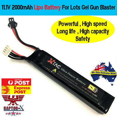 11.1V 2000mAh LIPO BATTERY For JM SCAR AK47 POWERFUL UPGRADE GEL BALL BLASTER AU