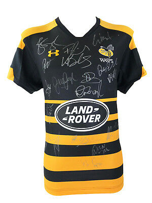 Signed Wasps Rugby Shirt - Fully Autographed Shirt 2018 + *photo Proof*