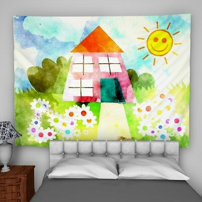 Watercolour Child Wall Hanging Tapestry Psychedelic Bedroom Home Decoration