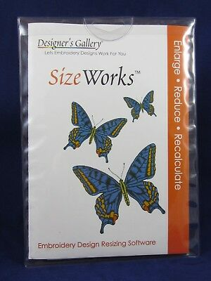 SizeWorks Designers Gallery Embroidery Software, Brand New, Never Used!
