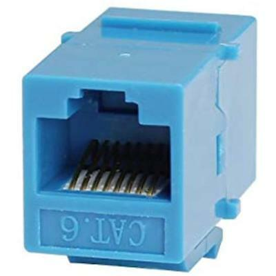 RJ45 Cat6 Coupler Inline 8P8C Type Keystone Jack For Wall Plate Panel White