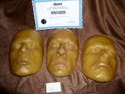 Spartacus TV show Production used Glaber's Death Mask Set 3 SS2 Starz COA Props