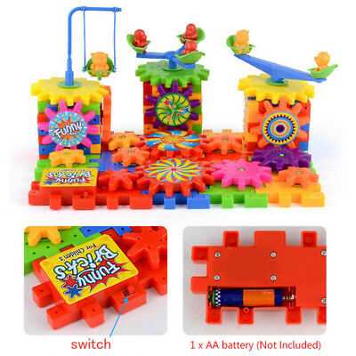 DIY Electric Building Blocks Kit Bricks Gears Educational 3D Kid Toys Xmas Gifts