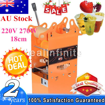 220V Manual Electric Bubble Tea Cup Sealing Machine Fruit Juice Cup Sealer 270W