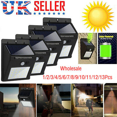 20 LED Solar Powered PIR Motion Sensor Wall Security Light Lamp Garden Outdoor