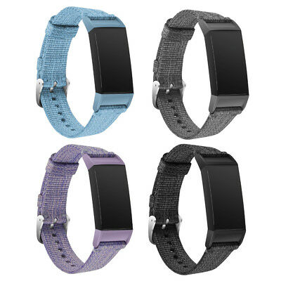For Fitbit Charge 3 Replacement Sport Weave Nylon Strap Watch Band Wristband
