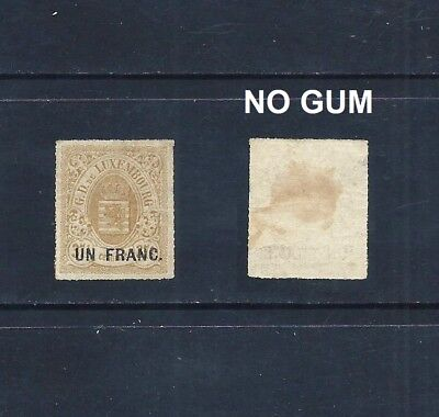 Luxembourg _ 1872 'arms' Surcharge ____(560)