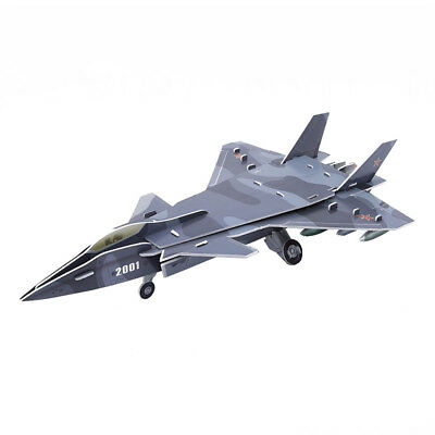 DIY Airplane Paper Jigsaw Model 3D Puzzle Early Educational Kids Toys BS