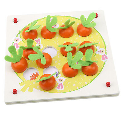 3D Wooden Carrot Puzzle Tangram Puzzle Board Early Educational Baby Toys BS