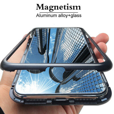 Magnet Bumper Case für Huawei Mate 20 P20 Pro Lite Honor Handy Hülle Glas Metall