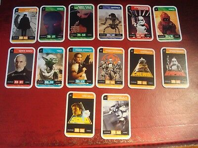 14 x STAR WARS TRADING CARDS 2 - EXCELLENT CONDITION