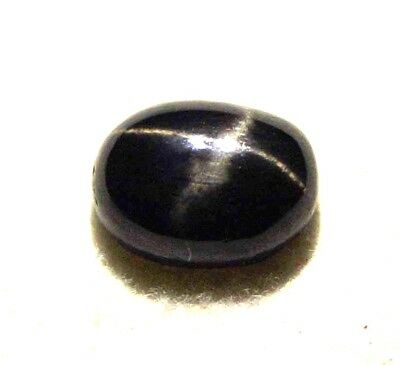 GGL Certified 2.80 Ct Natural Four Rays Star Black Sapphire Loose Gemstone