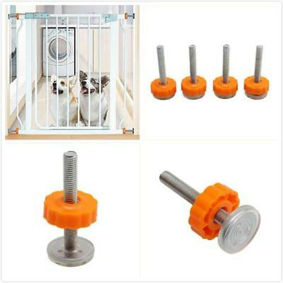 4pcs Baby Safety Stairs Nut Spare Part Gate Steel Core Screws Bolts SK