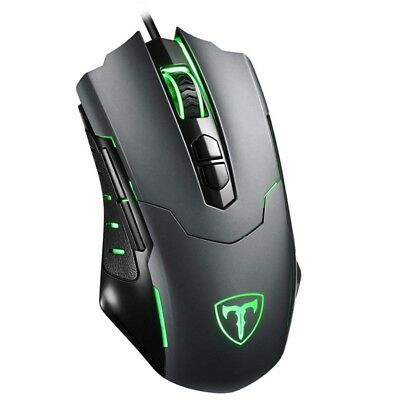 Ergonomic Optical Wired Gaming Mouse RGB Backlight Programmable Button PC Laptop