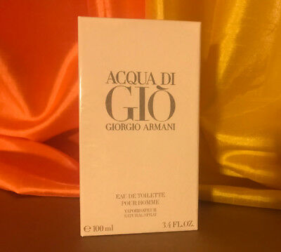Acqua Aqua Di Gio By Giorgio Armani 3.4 Oz EDT Spray New In Box For Men