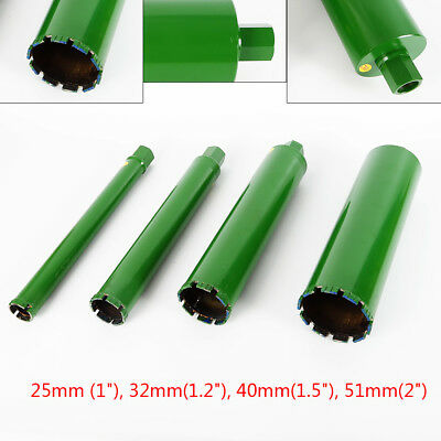 "4PCS Wet Diamond Core Drill Bit for Concrete - Premium Green Series 1"",1.2"",1.5"""